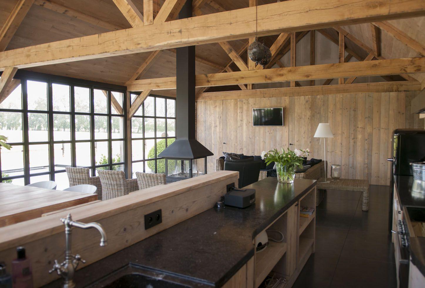 classic houten bijgebouw interieur