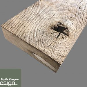 Oud eiken planken geborsteld